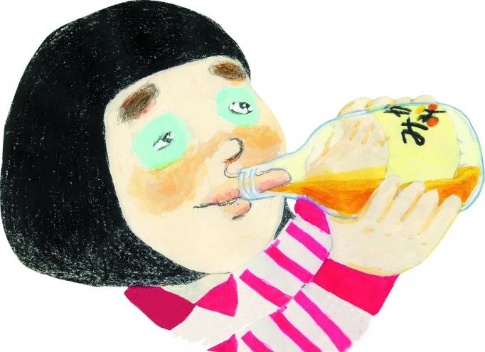 いつもみかんしぼりを飲んでるの?