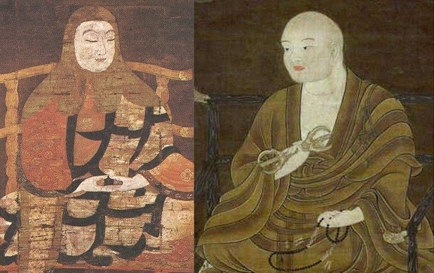 最澄(左)、空海(右)