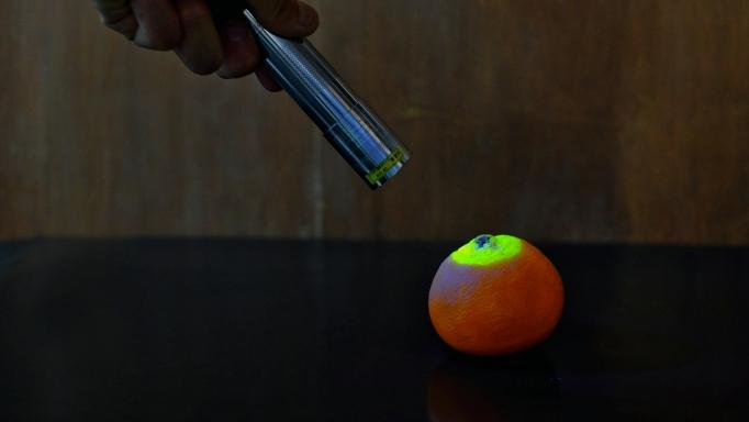 写真はみかんでなくカラマンダリン 他の柑橘でも光ります笑